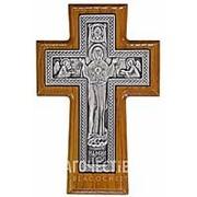 Курская церковная мастерская Крест серебряный (Знамение Богородицы), настенный, ясень фото