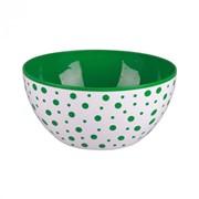 """Чаша """"Горошек"""" 3л. (зелено-белый) фото"""