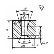 Волока-заготовка для волочения проволоки и прутков круглого сечения Форма 9 ГОСТ 9353-75 фото