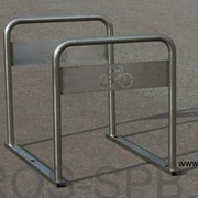 Велопарковка на 4 велосипеда из нержавейки фото