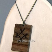 Бижутерия ручной работы Pandantiv din lemn 5 фото