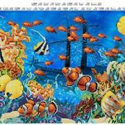 Схема для полной вышивки бисером Подводный мир фото