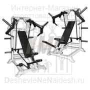 Тренажер ТДХ-010 Жим от груди сидя вперед со сведением (механизм легкого старта) фото