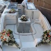 Свадебное оформление яхт фото