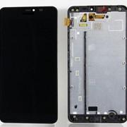 Дисплей для Nokia 640 XL (RM-1067) в сборе с тачскрином с рамкой (черный) фото