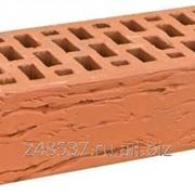 Кирпич облицовочный красный одинарный рифленый М-150 Браер фото