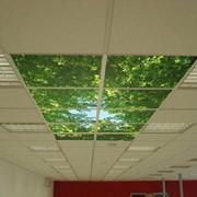 Потолки подвесные стеклянные фото