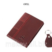 Обложка для водительского удостоверения с брелком OPEL, 065-07-32К фото