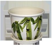 Горшок для цветов керамический Классик Бамбук Бел фото