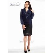 Блуза 1534-1 Синий цвет фото