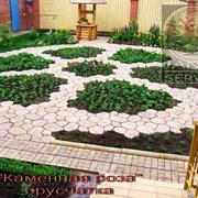 Тротуарная плитка в виде цветка фото
