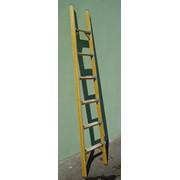 Лестницы диэлектрические приставные фото