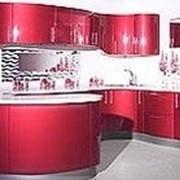 Кухня красная фото