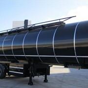 Полуприцеп-цистерна изотермическая для перевозки темных нефтепродуктов. фото