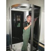 Установка душевой кабины фото