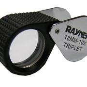 Лупа 10х d=18 мм триплет в резиновой оправе фото
