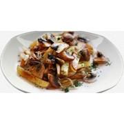 Доставка горячих блюд - Картофель с мясом и грибами фото