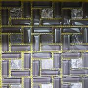 Мозаика HZX01 11шт (1,0233кв,м/кп), стеклянная основа, 30.5*30.5 см , 16кг/м2 фото