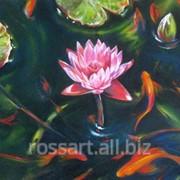 Картина на холсте Цветы Solitary_lotus фото