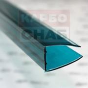 U - профиль торцевой 2100 х 4 мм зеленый с УФ защитой фото