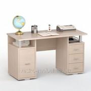 Письменный стол двухтумбовый ПС 40-07 Дуб молочный фото