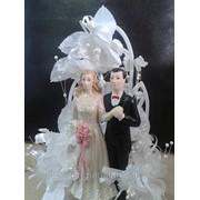 Жених и невеста (на свадебный торт) 1700тг.,украшения для кондитерских изделий фото