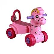 """Каталка детская """"Лошадка"""" (розовый) фото"""