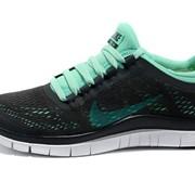 Найки фри Nike free 3.0 v5 black бирюз сетка (жен.) в наличи фото