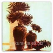 Картина Magnifique / 15х15 см / Два вазона / Сухоцветы e14457 фото