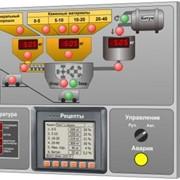 Система автоматического весодозирования и управления участком приготовления асфальтобетона. фото