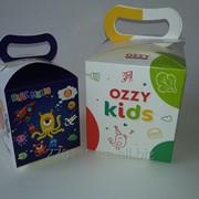 Картонная упаковка Кидс меню, коробочка для детских обедов фото