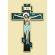 Распятие рукописное Сына Божьего на дереве, рельеф, (285*170) Арт. И4384 фото