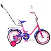 Детский велосипед RT BA Princess 14 KG1402 с ручкой фото