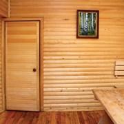 Дверь для бани из липы без стекла  фото
