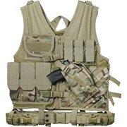 Жилет разгрузочный Rothco Cross Draw Molle Tactical MultiCam фото