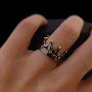 """Серебряное кольцо """"Черная Корона"""" с позолотой от WickerRing фото"""