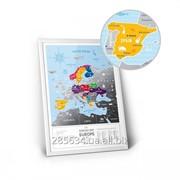 "Скретч карта Європи ""Travel Map Silver Europe"" фото"