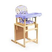 Стульчик для кормления Глобэкс Мишутка New (Фиолетовый, 140307) фото