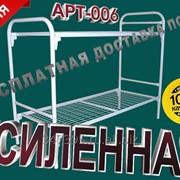 Кровати металлические двухъярусные усиленные АРТ-006 фото