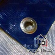 Полог ПВХ 450г/м2 односторонний с люверсами 6x10 фото