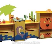 Стенка для игрушек Африка (фанера) 2.6 фото
