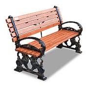 """Скамейка чугунная """"Львы"""", кресло, 0,6м фото"""