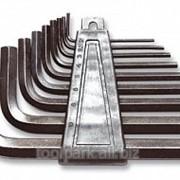 Ключи имбусовые 1,5-10 мм Cr-V короткие HEX 9пр сатинирован. покр. 2740-Н9 фото