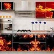 Кухня с фотофасадом (огонь) фото