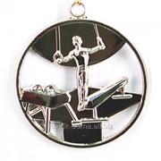 Медаль спортивная гимнастика - серебро фото