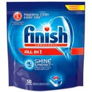 Таблетки для посудомоечных машин Finish All in 1 50 шт (5900627063233) фото