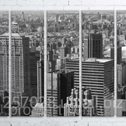 Модульна картина на полотні Нью-Йорк. Манхеттен код КМ100150(150)-105-1 фото