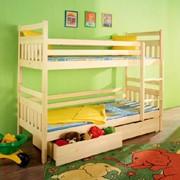 Двухъярусная Кровать Next 25 для детей и подростков, из массива сосны фото