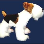 Игрушка собака Фокстерьер стоящий фото