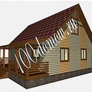 """Дачный дом из бруса с террасой. Проект """"Голыгино"""" фото"""